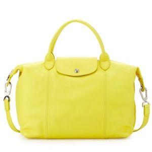 Longchamp Le Pliage Cuir Handbag with Strap